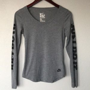 Nike athletic cut long sleeve tee